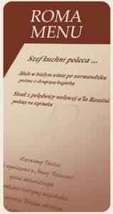 roma menu
